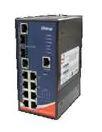Ethernet Modules Rugged 8x 10/100TX (RJ-45) PoE @15.4Watts + 2x Gigabit Combo (SFP/RJ-45)