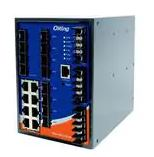 Ethernet Modules Industrial 20-port DIN Rail managed Ethernet switch with 8×10/100/1000Base-T(X) and 12xGigabit SFP slots