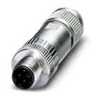 Circular Metric Connectors 4-pin M12 MaleAssembeled Plug, Soldering Type – D Coding